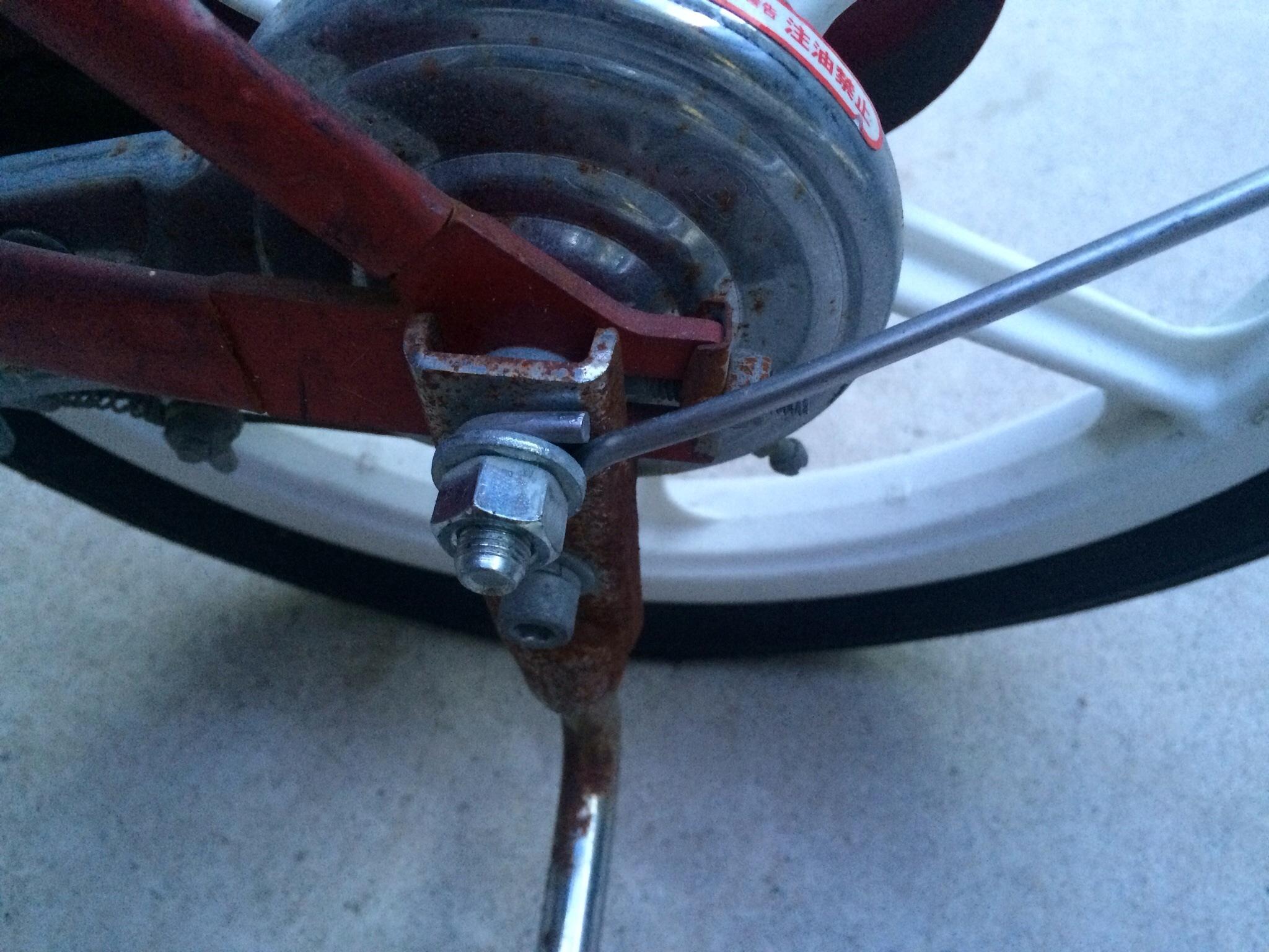 自転車の 自転車 ナット サイズ : ... 子供用自転車の補助輪取り外し